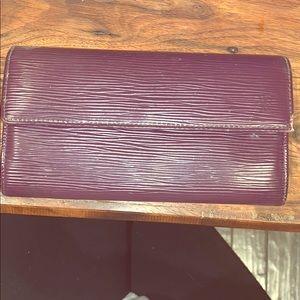 Louis Vuitton Epi leather purple wallet